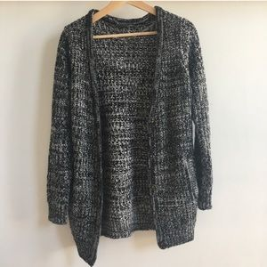 Sparkle and fade- cardigan - black and white